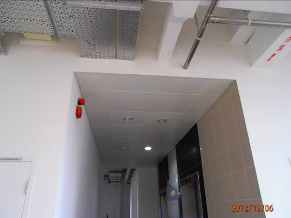 Site Photos for Aluminium Ceiling @ Lift Lobby1
