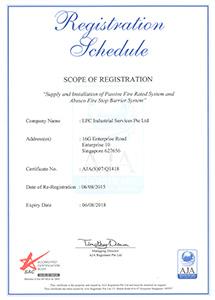 ISO Regn Schedule cert Expiry 6Aug2018